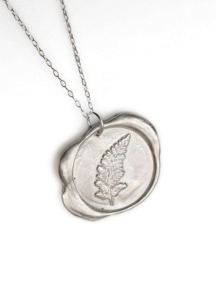 Wax Seal Fern Necklace