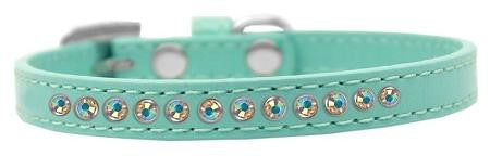 AB Crystal Size 10 Aqua Puppy Collar