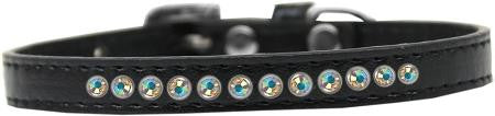 AB Crystal Size 10 Black Puppy Collar