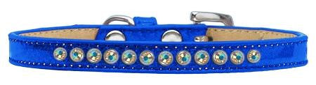 AB Crystal Size 10 Blue Puppy Ice Cream Collar