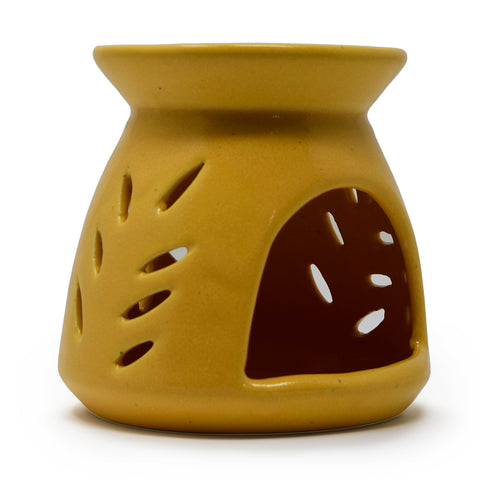 Clay Ceramic Tea Light Oil Burner or Aroma Diffuser