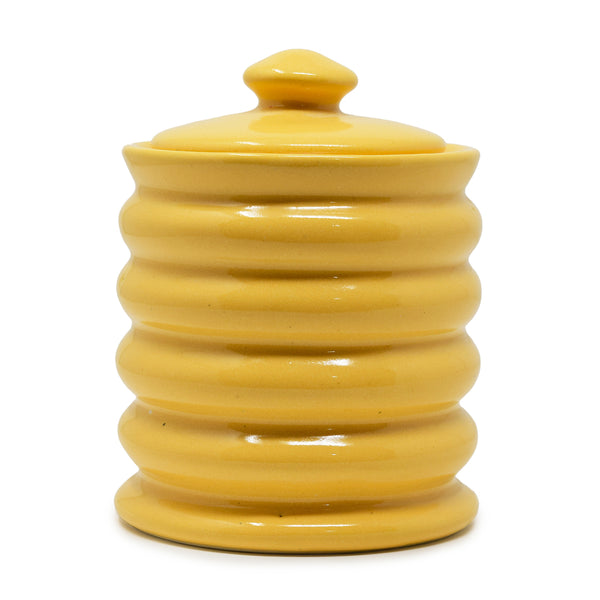 625ml Ribbed Ceramic Jar with Lid