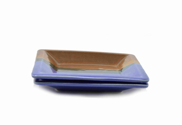 "Ceramic Square Serving Tray (6.5x1"") - Olive or Sea Green"