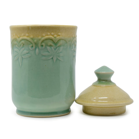 1200 ml Ceramic Jar with Lid