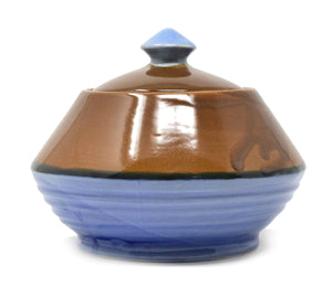 Ribbed Ceramic Jar Or Pot with Lid (1.3 Litre) or Classic Indian Handi