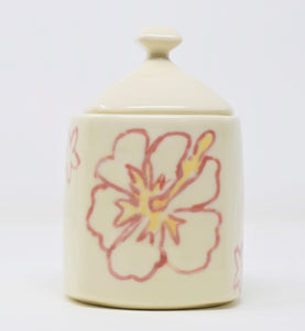 hawaii flower inspired sugar pot jar india