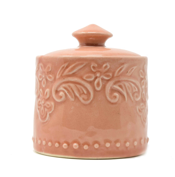 peach colour jar