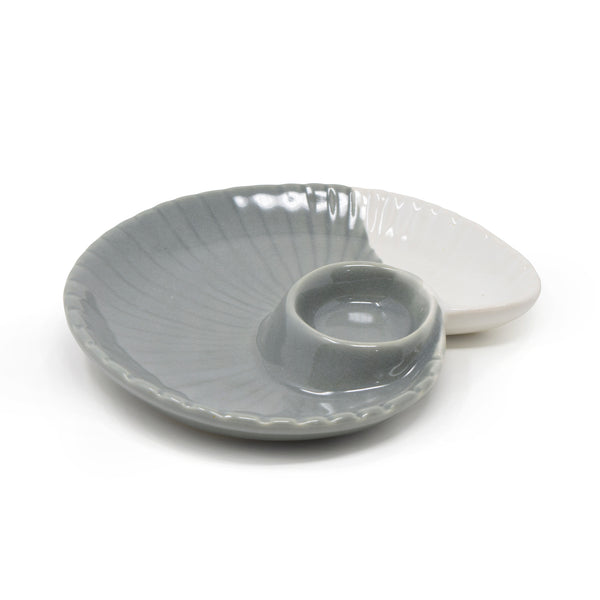 Shell Shape Chip and Dip Serve Platter