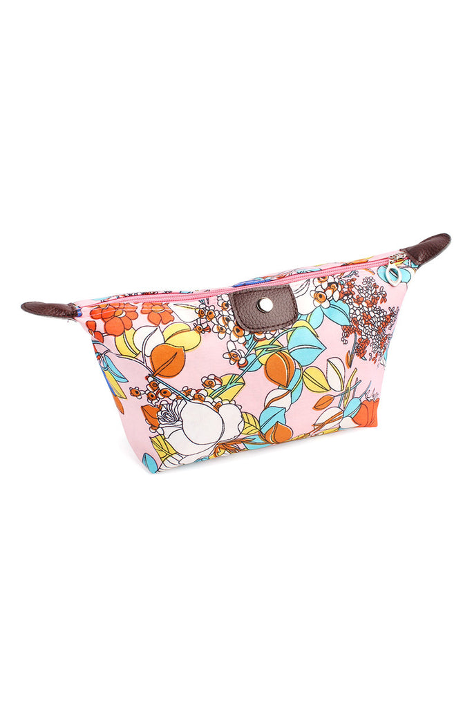 Colored Rose Cosmetic Bag