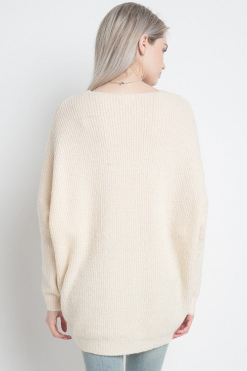 Pointelle Detail Pullover Sweater