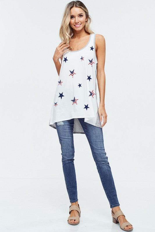 Star All Over Neon Tank Top