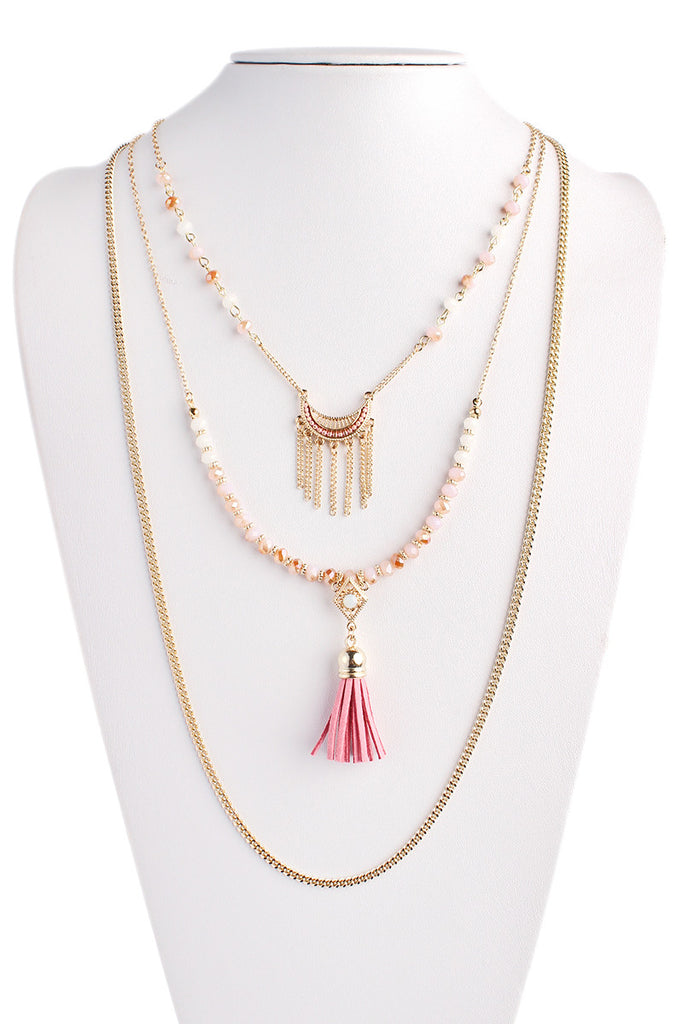 Long Layered Bohemian Necklace