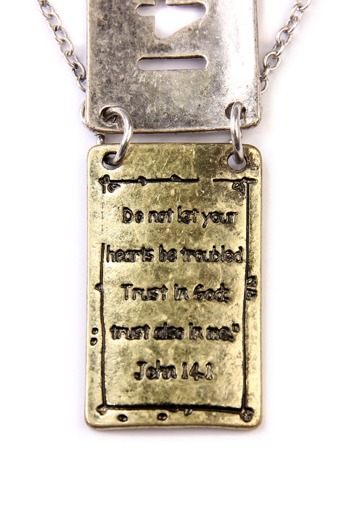 Bible Verse Pendant Necklace