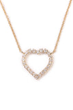 Cutout Heart Pendant Necklace