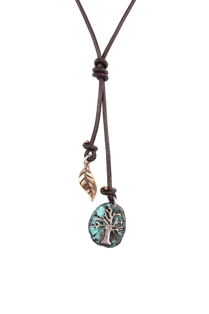 TREE OF LIFE CORD CHOKER NECKLACE
