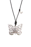 Butterfly Cord Pendant Necklace