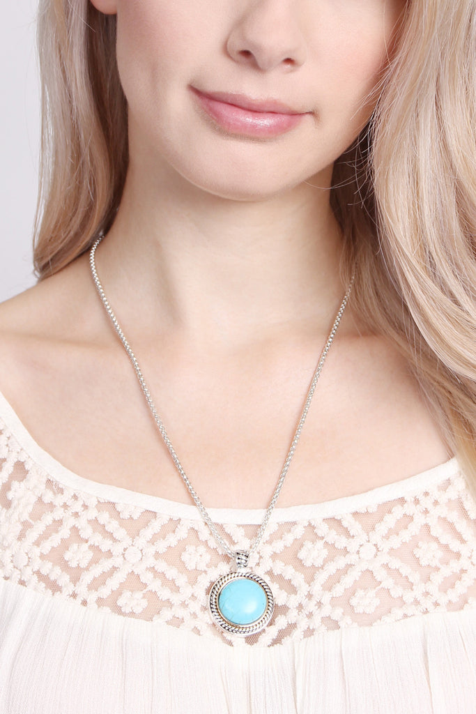 Turquoise Round Shape Necklace