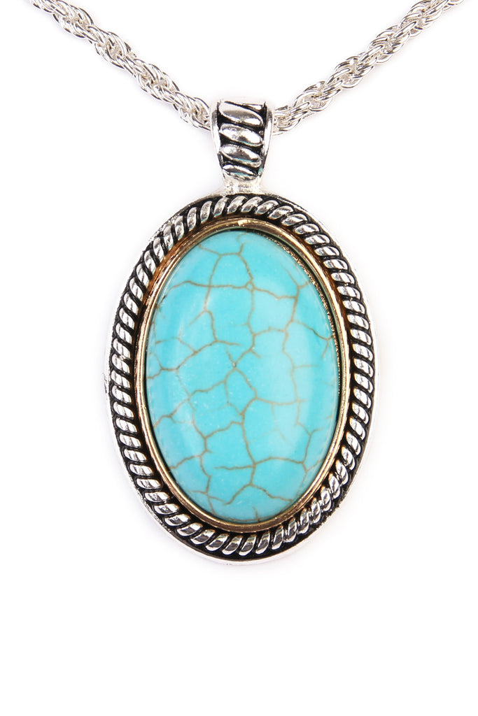 Turquoise Oval Shape Necklace