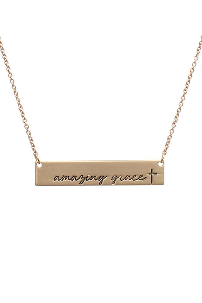 Amazing Grace Message Bar Necklace
