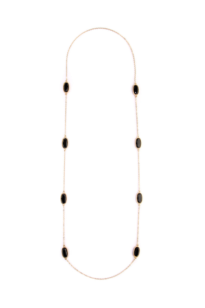 Lacquer Oval Shape Necklace