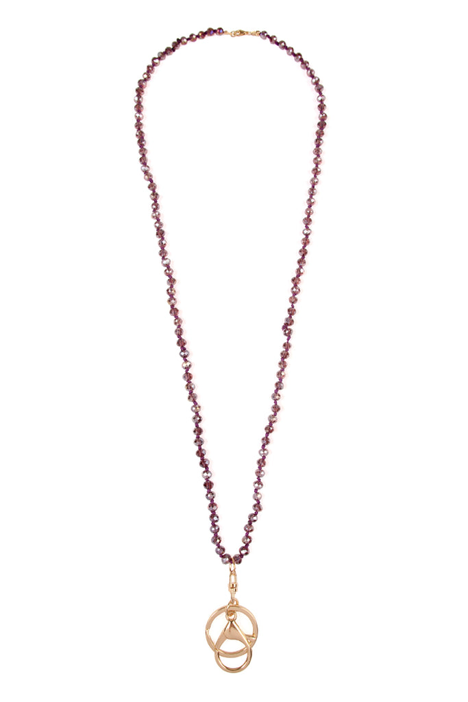 Knotted Crystal Lanyard Necklace
