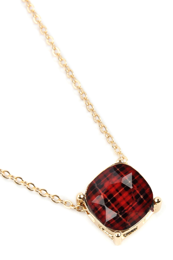 17299 - BUFFALO CHECKERED CHAIN NECKLACE