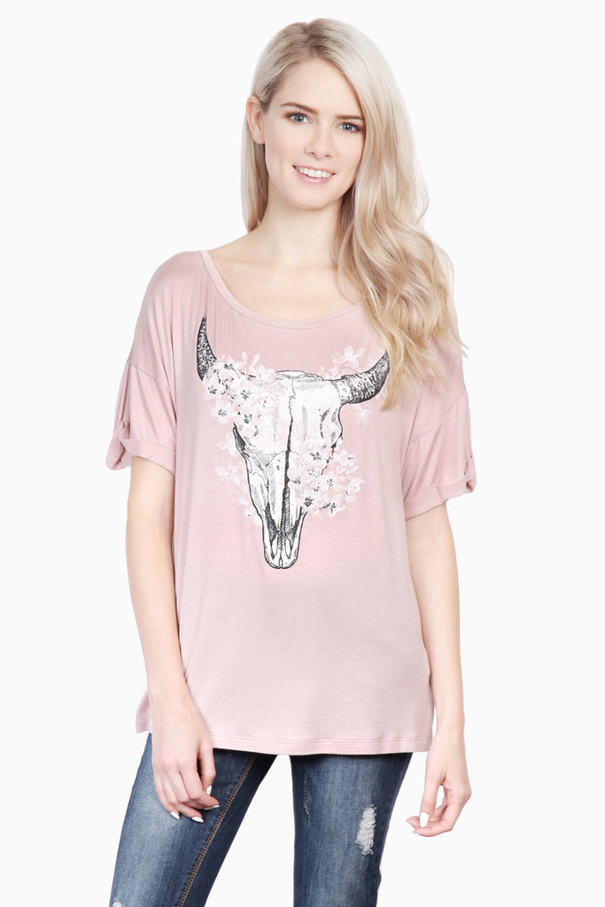 Animal Horn Graphic Top