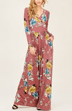 Long Sleeve Flared Maxi Dress