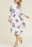 3/4 Bell Sleeve Flare Dress