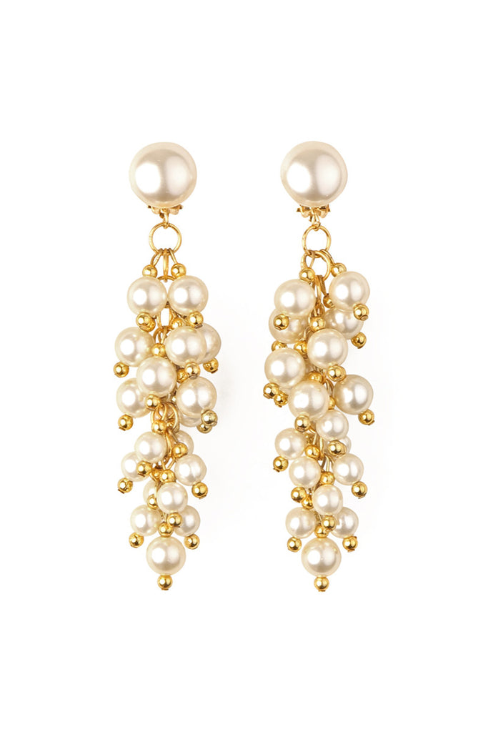 Beaded Clip On Earrings - Riah Fashion