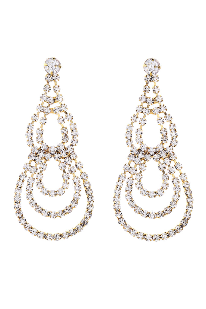 Teardrop chandelier rhinestone earrings riah fashion teardrop chandelier rhinestone earrings teardrop chandelier rhinestone earrings aloadofball Gallery
