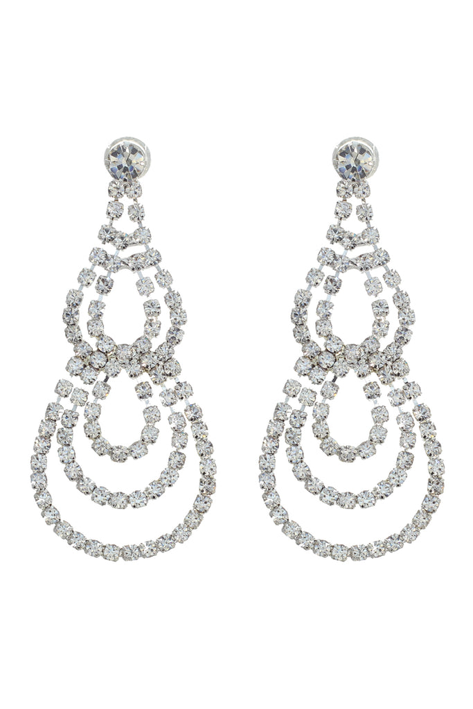 Teardrop Chandelier Rhinestone Earrings