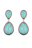 Turquoise  Teardrop Dangle Earrings