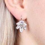 25493 - MARQUISE LEVER BACK CRYSTAL EARRINGS