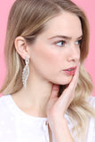 Wing Shape Pave Post Earrings