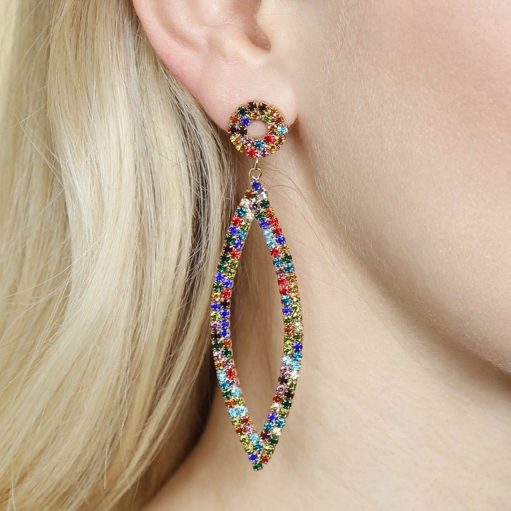 Marquise Rhinestone Crystal Earrings