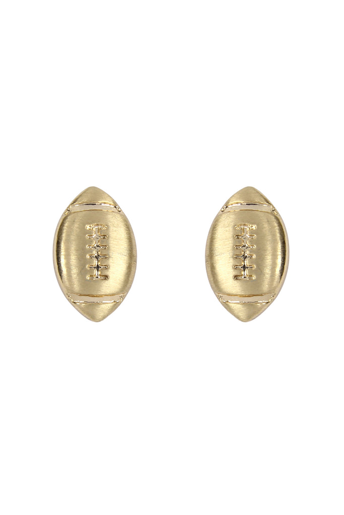 Simple Football Matte Earrings