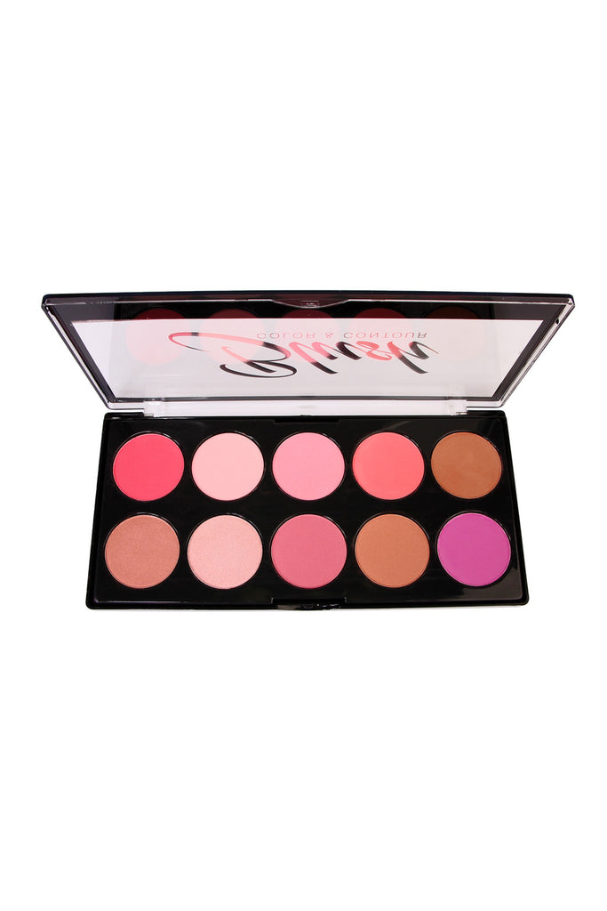 L.A. Colors Blush Color & Contour 10 Color Blush Palette