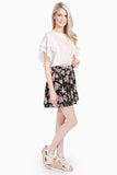 Ditsy Rose Print Skirt