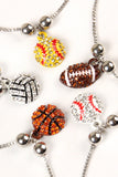 Adjustable Sports Charm Bracelet