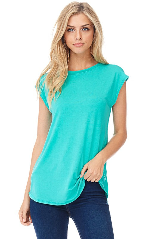 Cap Sleeve Back Crossed Top