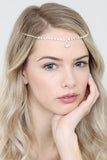 Teardrop Square Pattern Chain Hair Pin