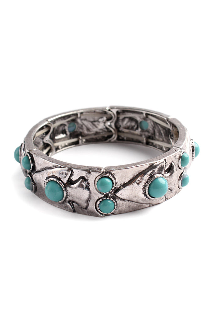 Cut out Turquoise Stone Bracelet