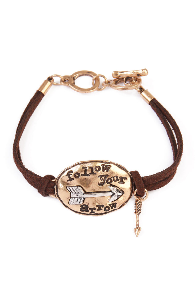 Follow Your Arrow Charm Bracelet