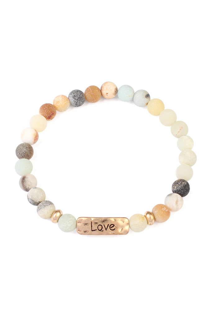 "83384 - ""LOVE"" NATURAL STONE MESSAGE BRACELET"