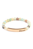 Blessed Bar Natural Stone Bracelet