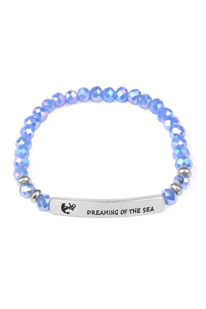 """Dreaming of the Sea"" Glass Bead Bracelet"