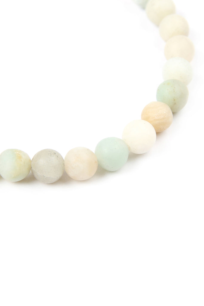 LOVE AND BE LOVED NATURAL STONE STRETCH BRACELET
