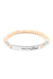 TRUST IN THE LORD 6MM GLASS BEADS STRETCH BRACELET