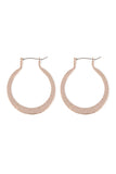 Hammered Horseshoe Hinge Earrings